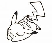Coloring pages Free drawing of Pikachu
