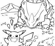 Coloring pages Pikachu for children