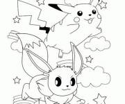 Coloring pages Pikachu in color