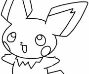 Coloring pages Pikachu japanese cartoon