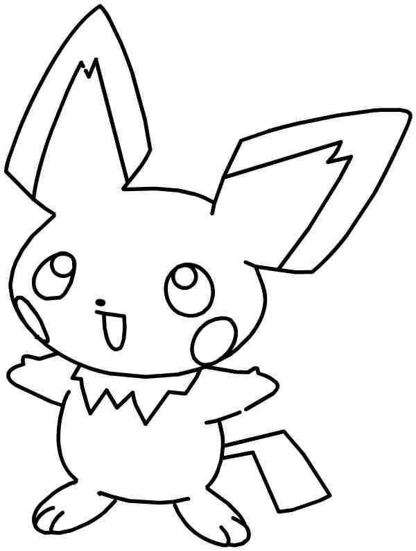 Free printable Pikachu coloring pages