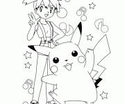 Coloring pages Pikachu: pokemon cartoon
