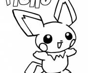 Coloring pages Pikachu Pokemon cartton for kids