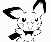 Coloring pages Pikachu the cute specie
