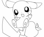Coloring pages Pikachu to color easy