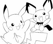 Coloring pages Pikachu to download easy