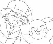 Coloring pages Pikachu to print for kids