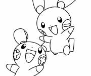 Coloring pages Black and white Pokemon