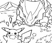 Coloring pages Pikachu on the run