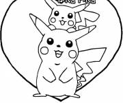 Coloring pages Pokemon cute Pikachu
