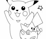 Coloring pages Too cute Pikachu drawing