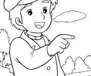 Coloring pages Princess Sarah good-hearted