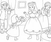 Coloring pages Princess Sarah to color easily