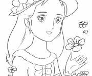 Coloring pages the most cute Princess Sarah