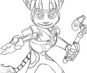 Coloring pages Drawing of Ratchet and Clank