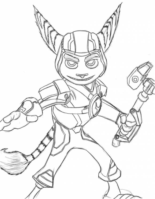 Free coloring and drawings Drawing of Ratchet and Clank  Coloring page