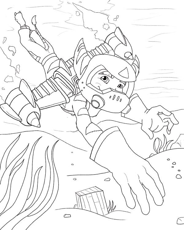 Free coloring and drawings Ratchet and Clank 11 Coloring page
