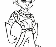 Coloring pages Ratchet and Clank attacking