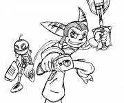 Coloring pages Ratchet and Clank cartoon for kids