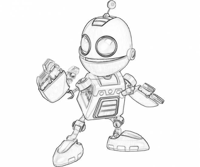 Free coloring and drawings Ratchet and Clank courageous Coloring page