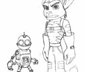 Coloring pages Ratchet and Clank for boys