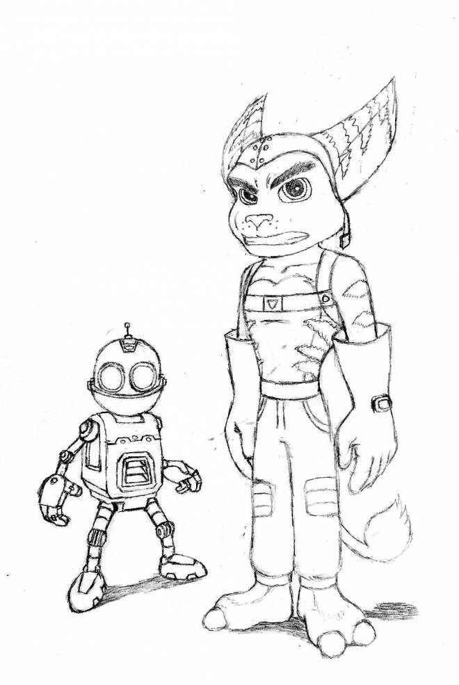 Free coloring and drawings Ratchet and Clank for boys Coloring page