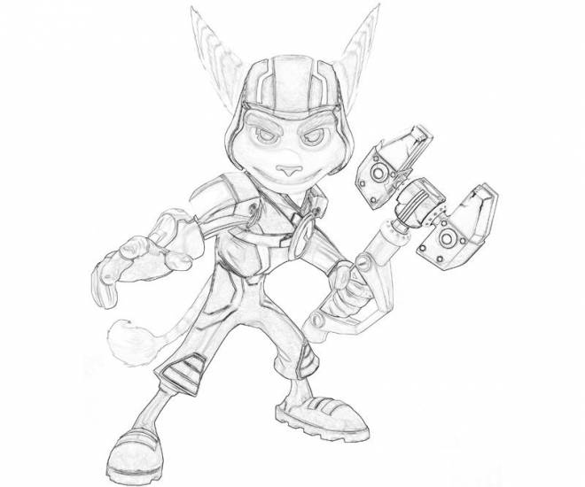 Free coloring and drawings Ratchet and Clank friends to color Coloring page