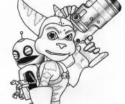 Coloring pages Ratchet and Clank in color