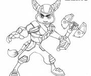 Coloring pages Ratchet and Clank the two friends