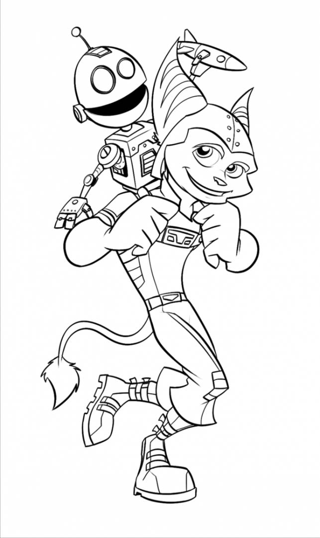 Free coloring and drawings Ratchet and Clank to cut Coloring page