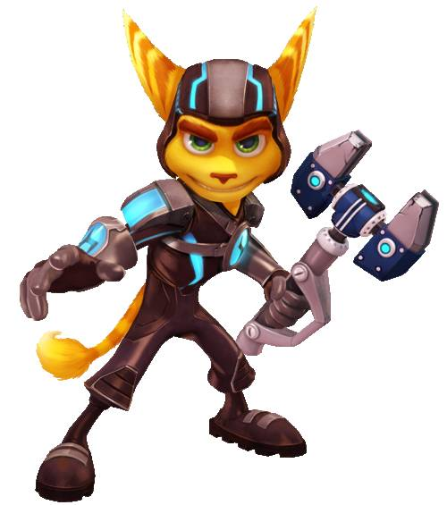 Free coloring and drawings The two friends: Ratchet and Clank  Coloring page