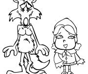Coloring pages Little Red Riding Hood
