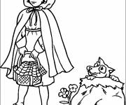 Coloring pages Red Riding Hood to print