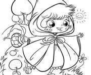 Coloring pages The cute Red Riding Hood