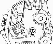 Coloring pages Fireman Sam the firefighter