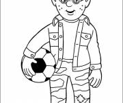 Coloring pages Fireman Sam to cut easily