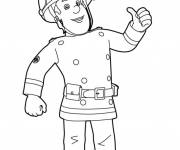 Coloring pages Fireman Sam to download on computer