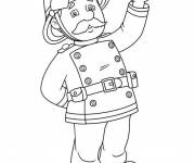 Coloring pages Free Fireman Sam for boy