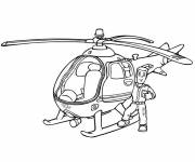 Coloring pages Helicopter Sam