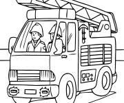 Coloring pages Sam the Fireman on computer