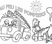 Coloring pages Sam the Fireman's truck