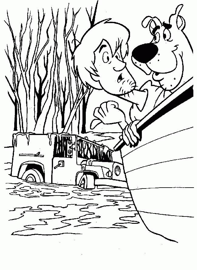 Free coloring and drawings Color Scooby doo drawing Coloring page