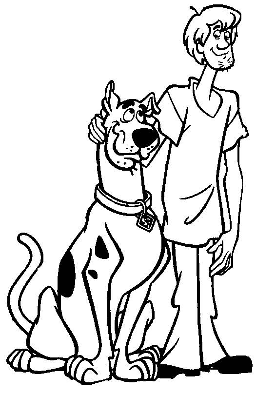 Free coloring and drawings Scooby doo and Sammy Coloring page