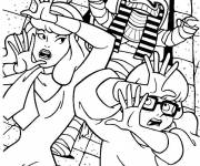 Coloring pages Scooby doo Daphne and Verra on the run