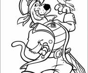 Coloring pages Scooby doo pirate