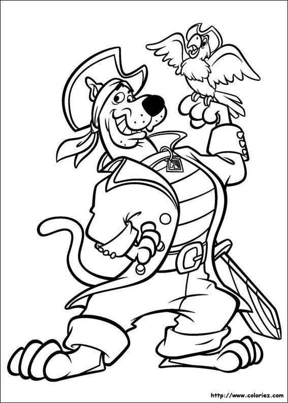 Free coloring and drawings Scooby doo pirate Coloring page