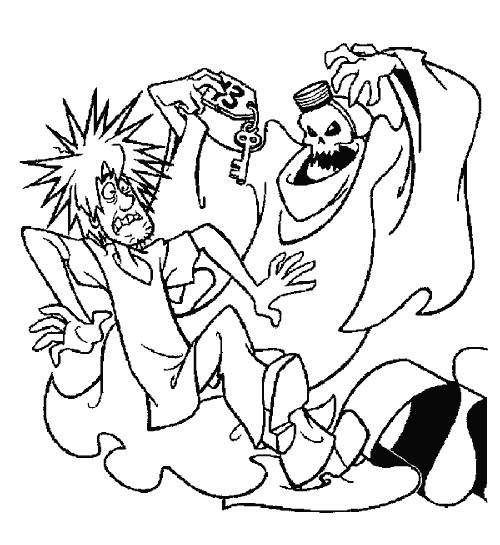 Free coloring and drawings Scooby doo scared Coloring page