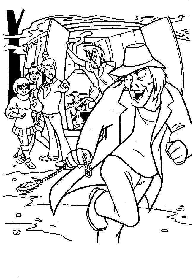 Free coloring and drawings Scooby doo the villain Coloring page