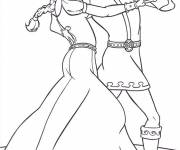 Coloring pages Prince Charming and Fiona: Shrek