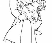 Coloring pages Shrek and the princess dance